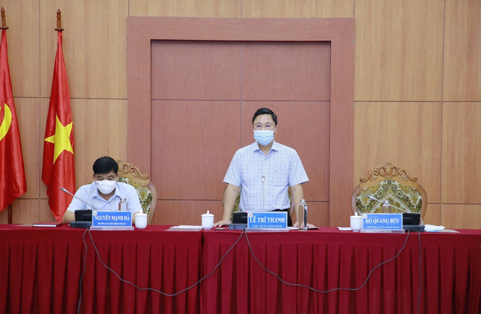 Chủ tịch UBND tỉnh Lê Trí Thanh đề nghị Phước Sơn cần nắm bắt cơ hội bứt phá trong nhiệm kỳ này. Ảnh: T.C