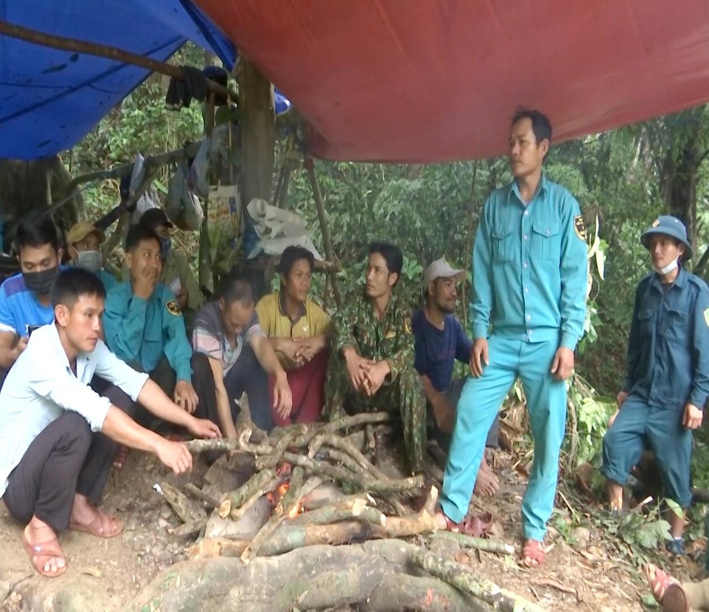 Chốt bảo vệ rừng thôn 1, xã Trà Mai. Ảnh: T.T