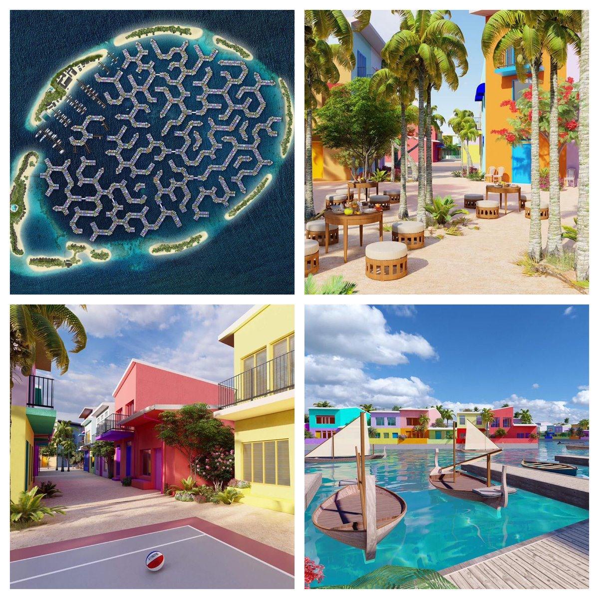 Thiết kế của thành phố đảo nổi Maldives. Ảnh: @Maldivesfloatingcity