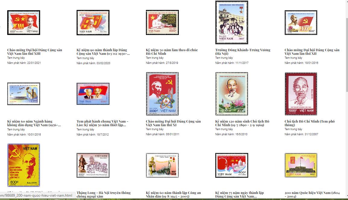 """Không gian trưng bày chuyên đề """"Bác Hồ qua con tem bưu chính"""" của Vietnam Post trên sàn book365."""