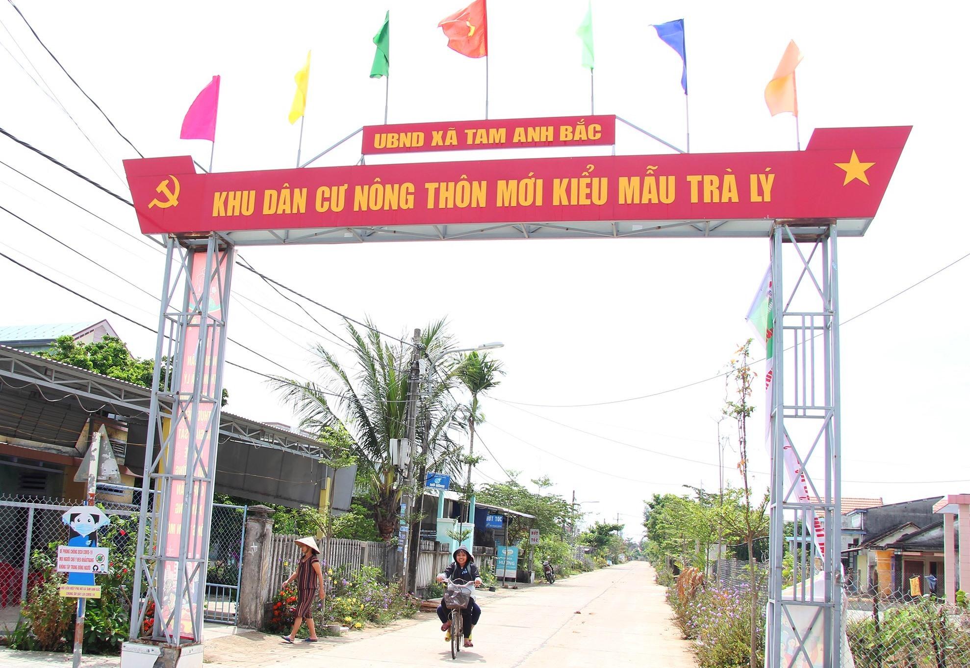 Diện mạo KDC kiểu mẫu thôn Trà Lý, xã Tam Anh Bắc. Ảnh: H.Q