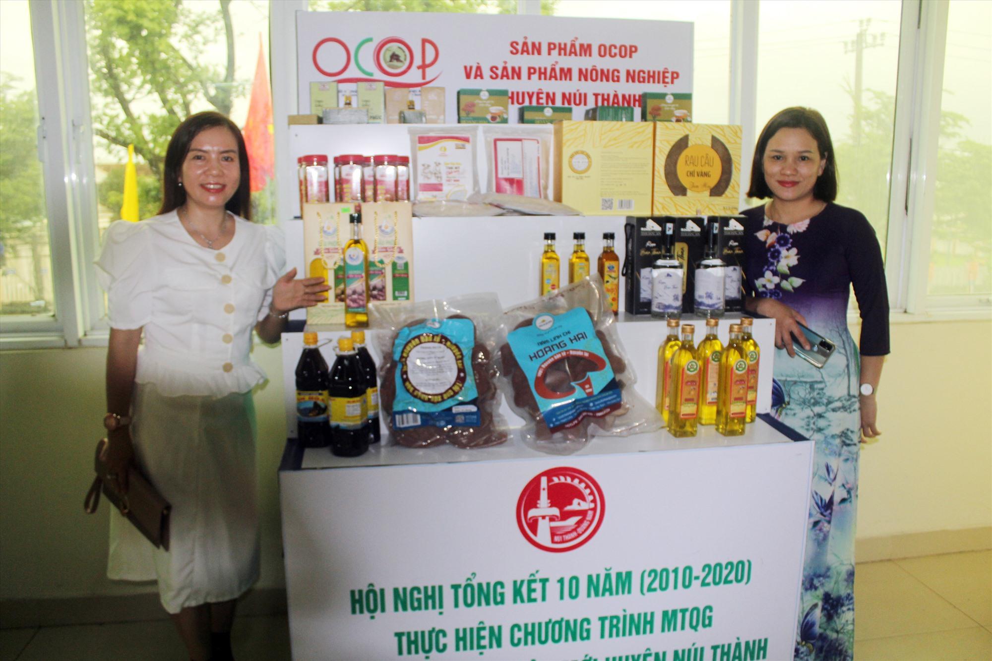 Núi Thành hiện có 13 sản phẩm OCOP được công nhận 3 sao cấp tỉnh. Ảnh: V.P