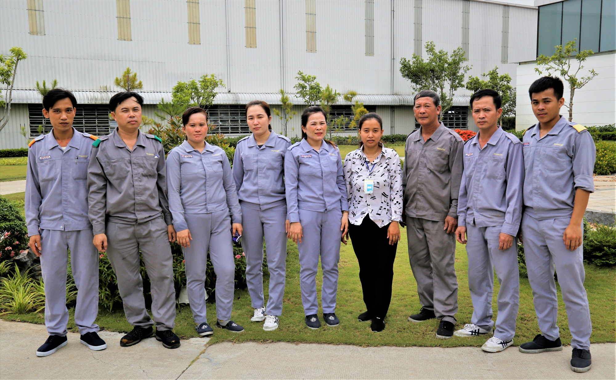 Gia đình anh Lê Văn Phẩm có 9 thành viên cùng làm việc tại THACO Chu Lai.