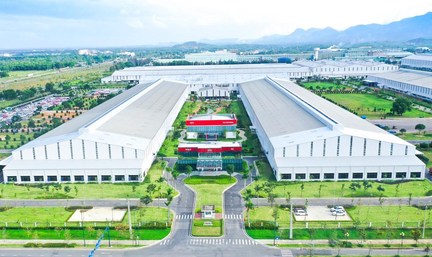 Khu công nghiệp THACO Chu Lai. Ảnh: S.T