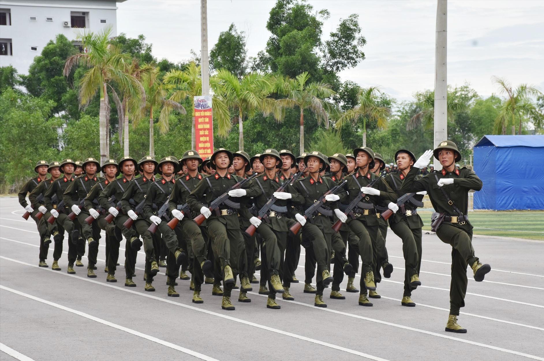 Có 179 chiến sĩ Công an tỉnh tham gia khóa huấn luyện.