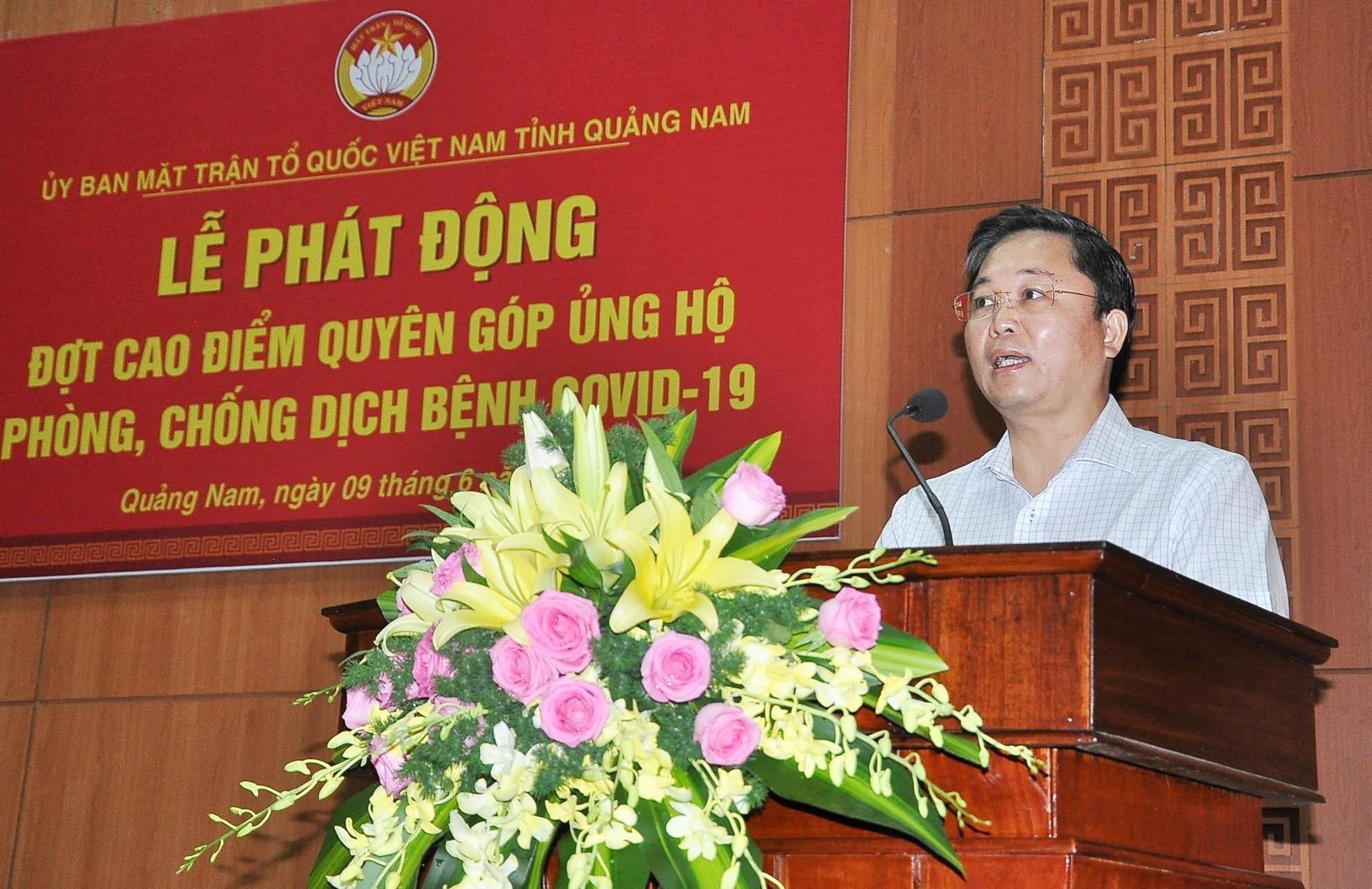 Chủ tịch UBND tỉnh Lê Trí Thanh phát biểu. Ảnh: VINH ANH