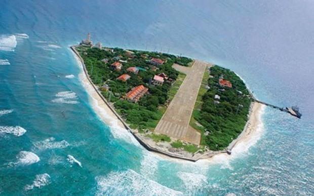 An aerial view of Truong Sa Lon Island (Photo: VNA)