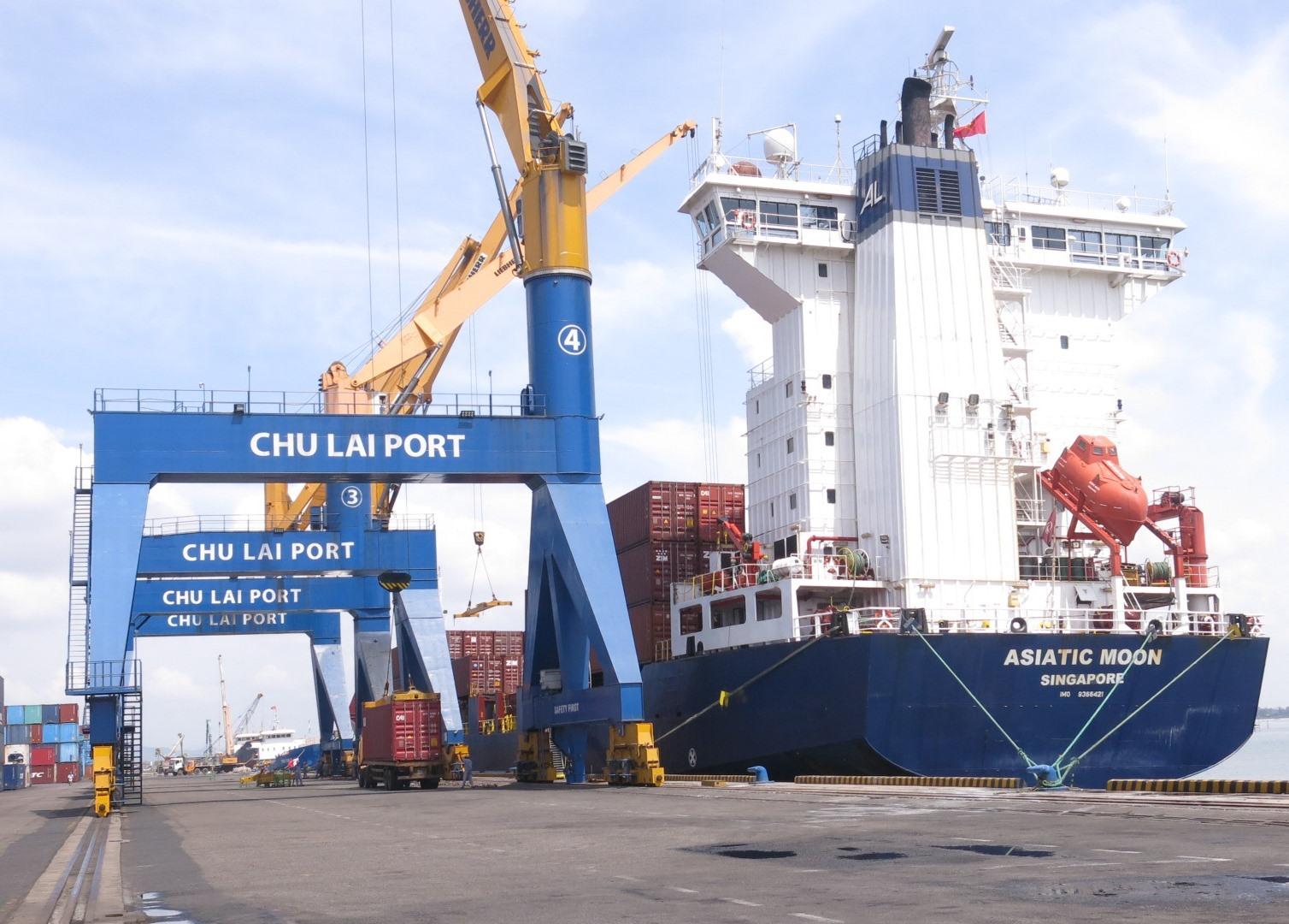 At Chu Lai port, Quang Nam