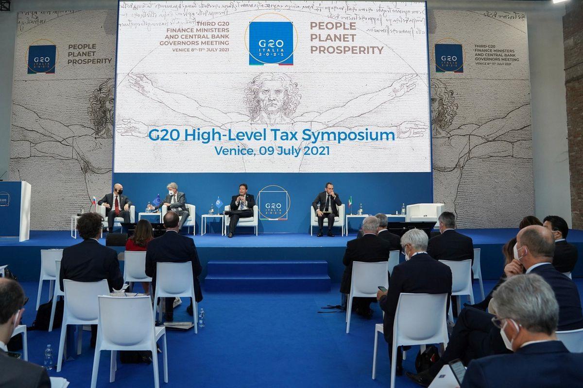Các bộ trưởng tải chính G-20 tại cuộc họp ngày 9.7 vừa qua. Ảnh: Reuters