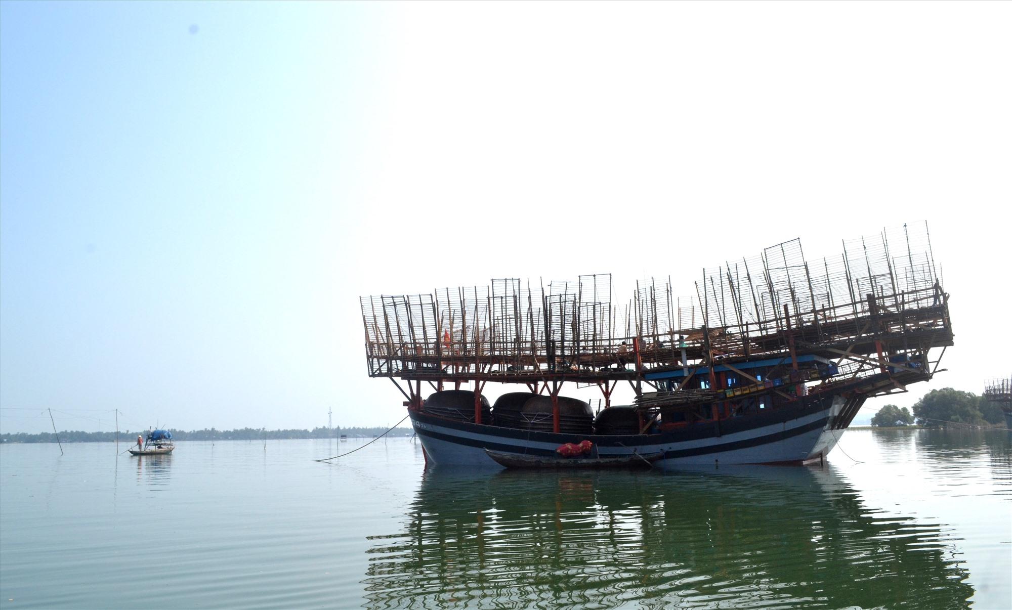 Nghề câu mực khơi có nhiều tàu cá ngắt kết nối thiết bị GSHT khi đang sản xuất ở các vùng biển xa. Ảnh: VIỆT NGUYỄN