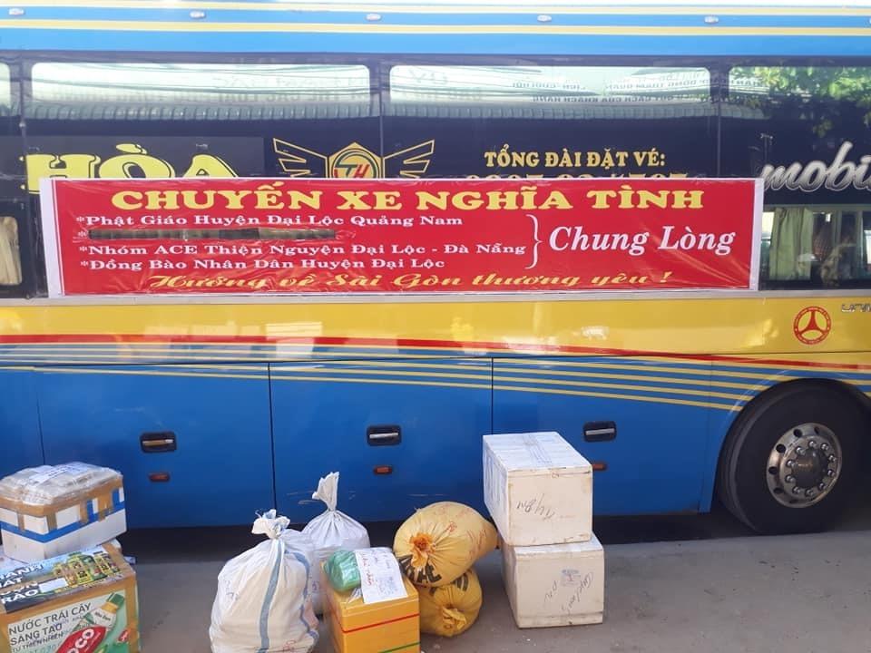 HĐH Đại Lộc sẽ phân phối hàng hóa từ quê nhà gửi vào TP.Hồ Chí Minh theo chuyến xe nghĩa tình đến các hộ khó khăn. Ảnh: P.P