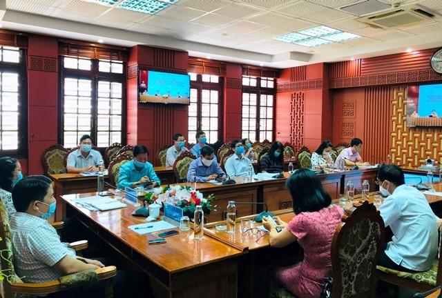 Quang cảnh hội nghị tại điểm cầu Quảng Nam. Ảnh: quangnam.gov.vn