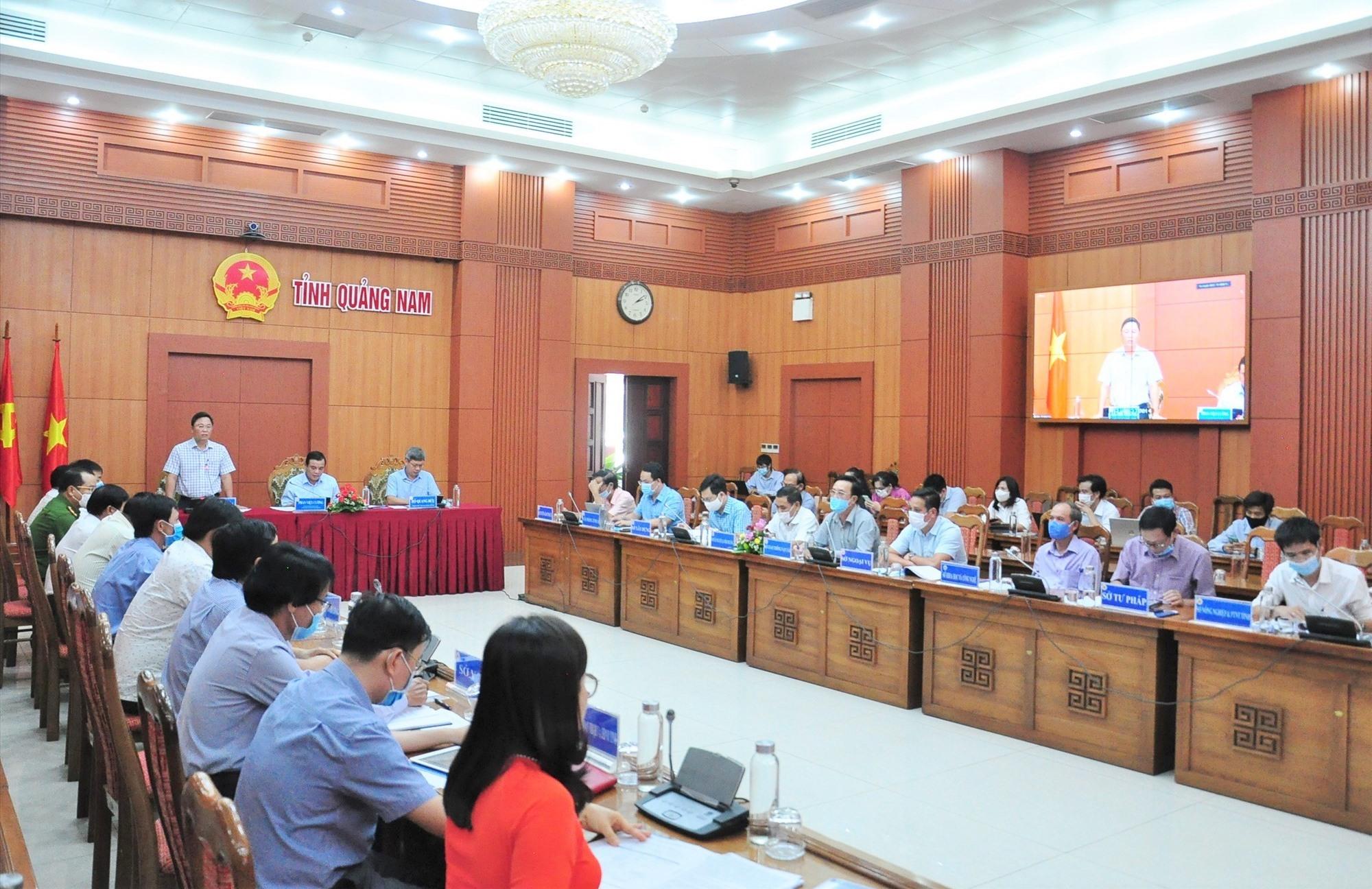 Đại biểu tham dự hội thảo tại điểm cầu Quảng Nam. Ảnh: VINH ANH