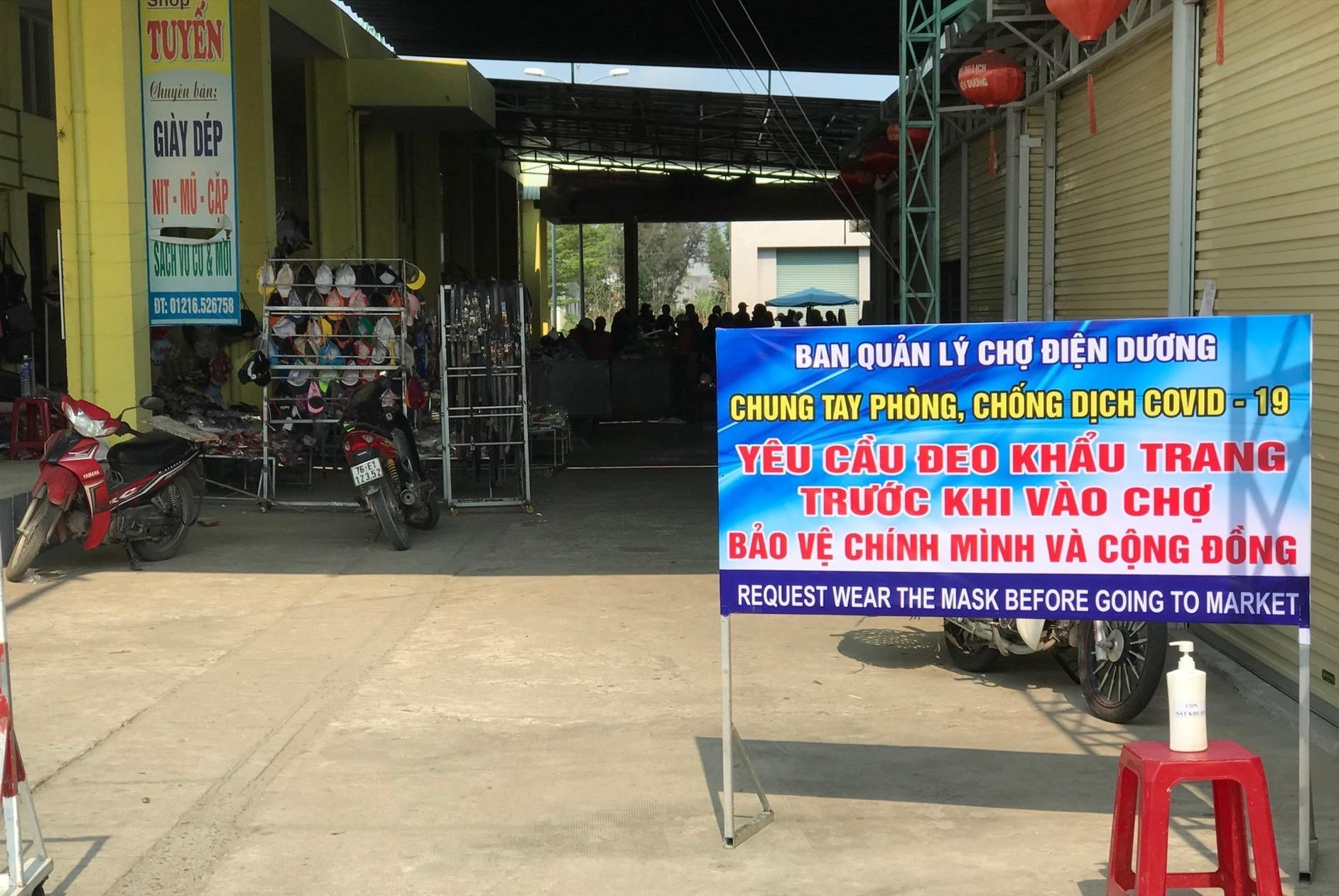 Các cơ sở kinh doanh thuộc 13 xã, phường có vị trí giáp ranh hoặc lân cận TP.Đà Nẵng ở Điện Bàn từ ngày mai chỉ được bán hàng mang về. Ảnh: Q.T