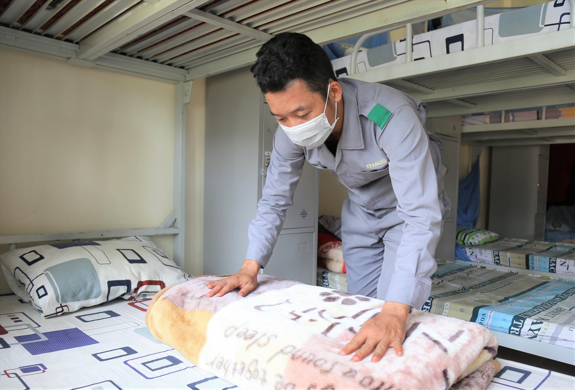 Nhiều doanh nghiệp đã bố trí chỗ ở cho lao động của mình. Trong ảnh, Thaco Trường Hải đã sắp xếp chỗ lưu trú cho công nhân tại tỉnh Quảng Ngãi và Tp. Đà Nẵng.
