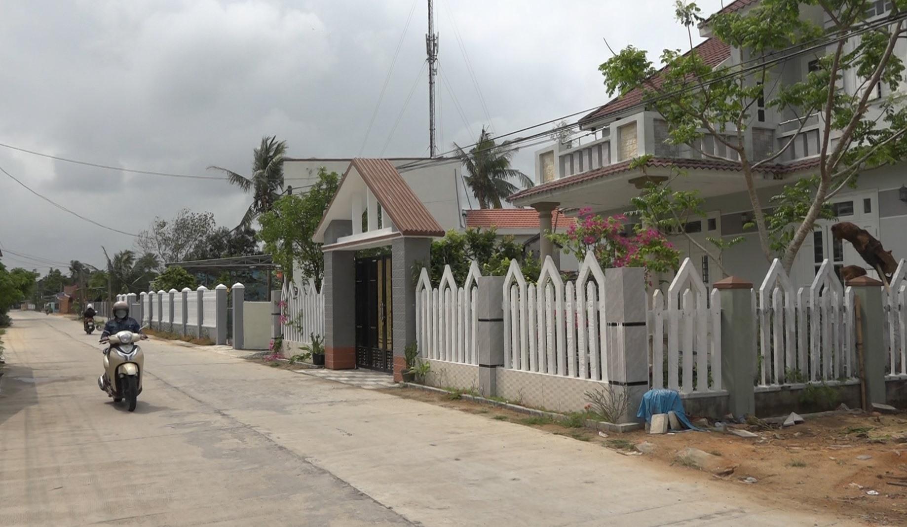 Nhiều khu dân cư được quy hoạch khang trang. Ảnh: M.T
