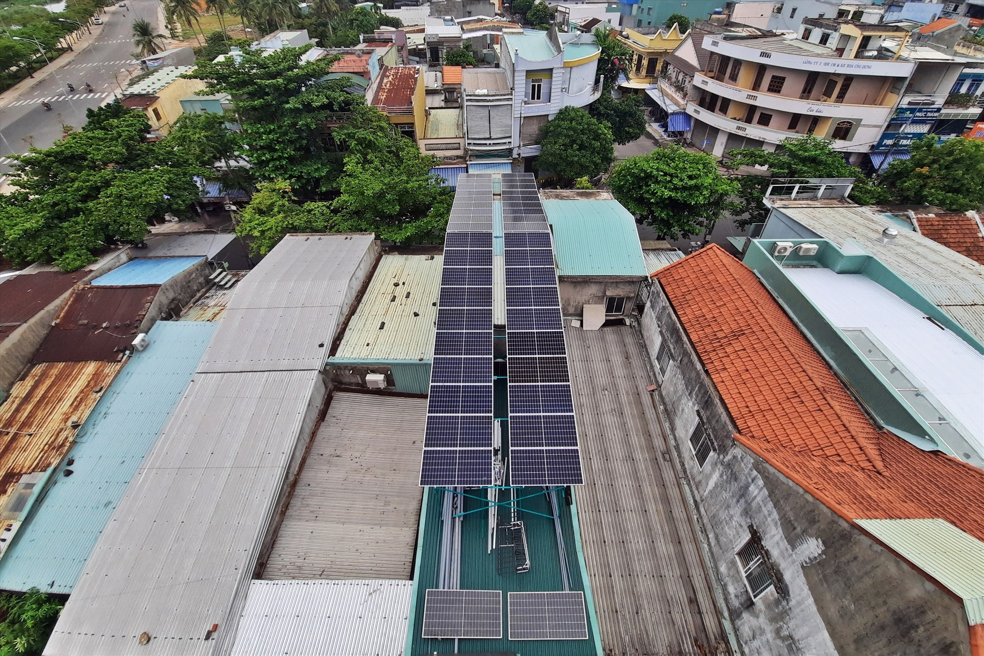 Solar-power system on the swallow house