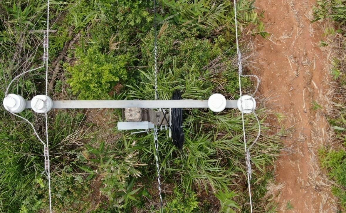 Hình ảnh đường dây được ghi lại bởi thiết bị flaycam khá sắc nét, tổng thể các vị trí