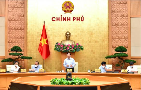 Thủ tướng Phạm Minh Chính phát biểu tại phiên họp Chính phủ - Ảnh: VGP