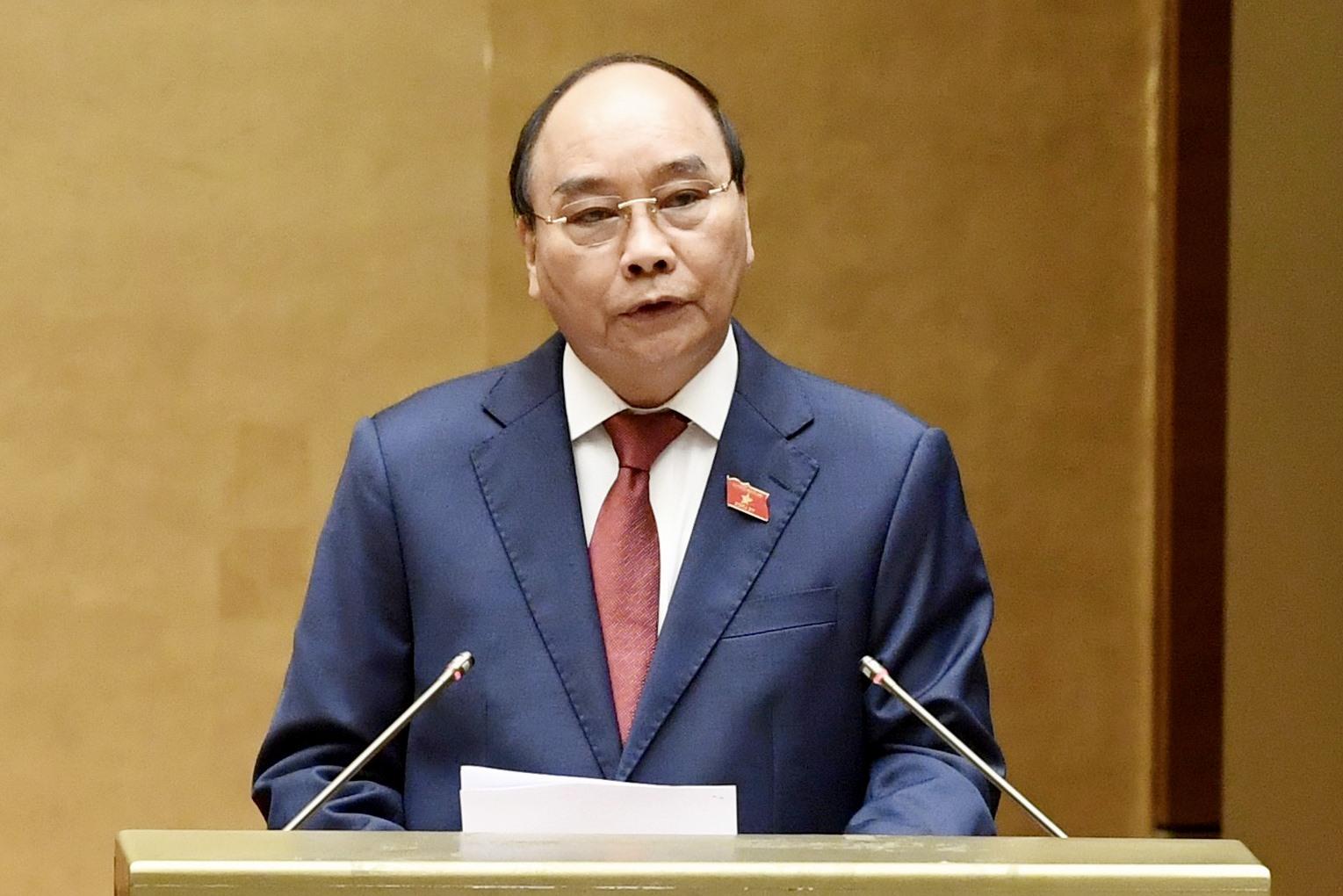 Chủ tịch nước Nguyễn Xuân Phúc đã có bài phát biểu trước Quốc hội.