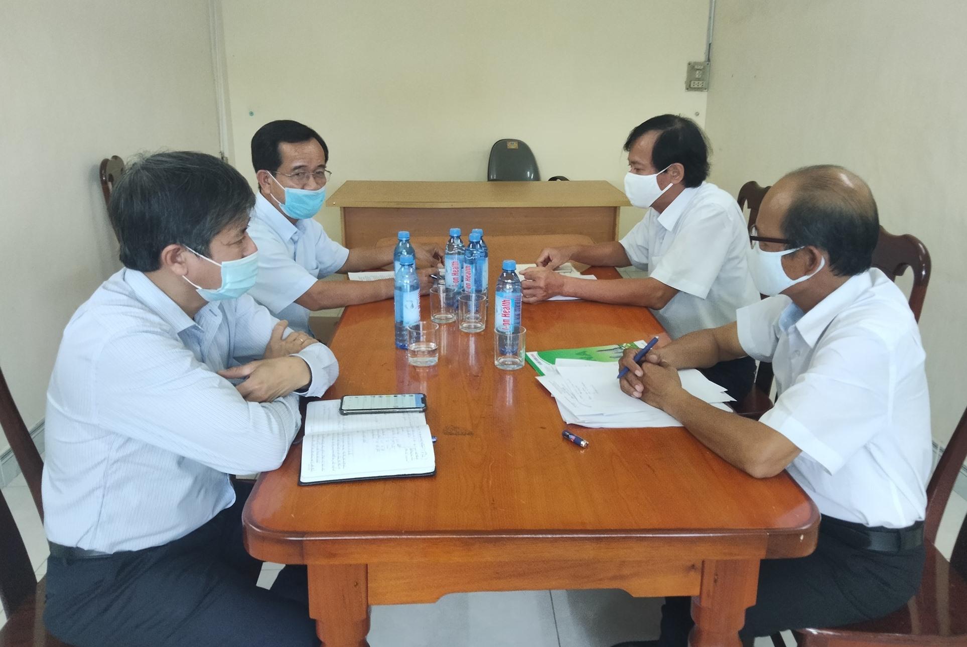 Lãnh đạo huyện Thăng Bình kiểm tra phương án chống dịch tại doanh nghiệp