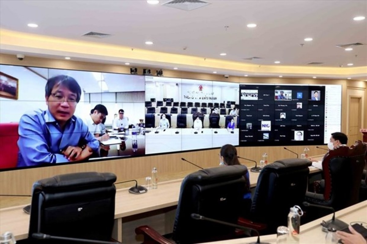 A recent online meeting on the launch of a Vietnam Innovation Network in the Republic of Korea (Photo: Ministry of Planning and Investment)