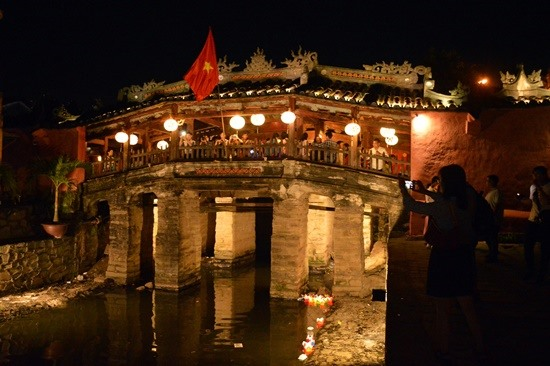 Japanese covered bridge, a symbol of Hoi An ancient town