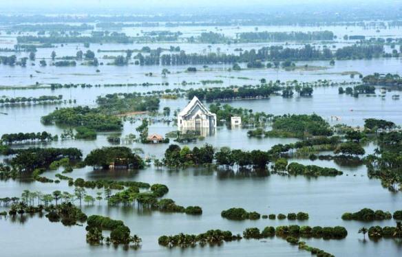 Nhiều thành phố ven biến có nguy cơ bị nhấn chìm khi nước biển dân. Ảnh: wordpress.