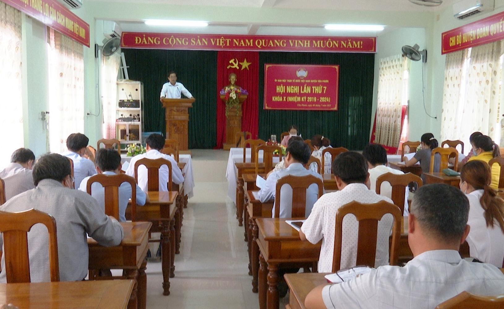 Mặt trận huyện Tiên Phước sơ kết công tác mặt trận 6 tháng đầu năm 2021