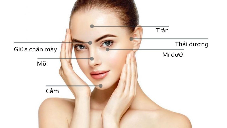 Filler có thể ứng dụng tại nhiều vị trí khác nhau trên mặt.