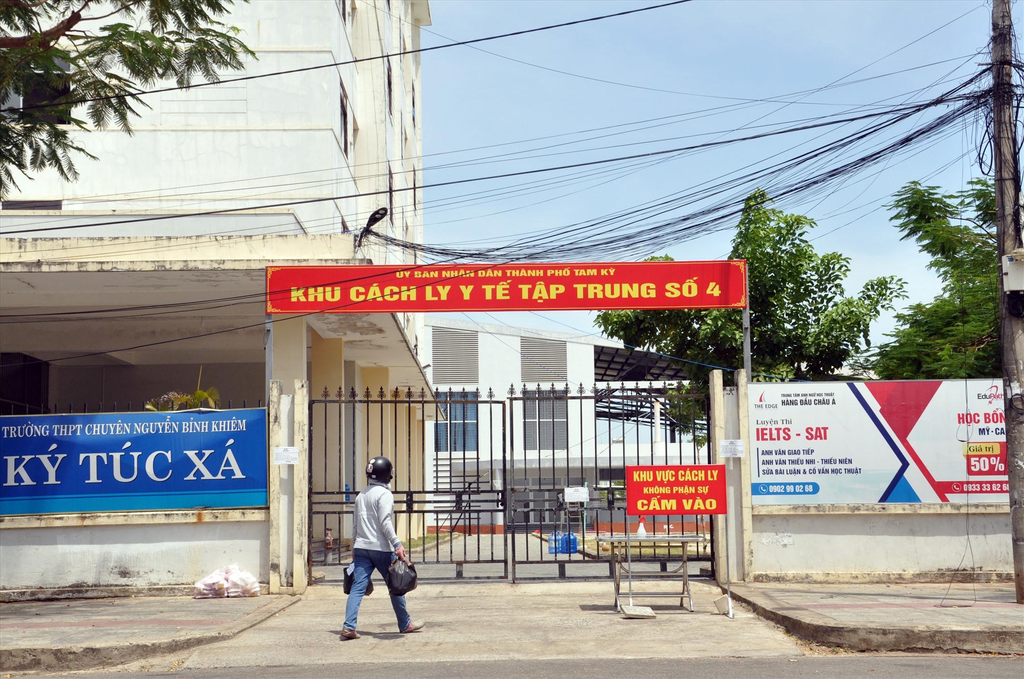 Khu ký túc xá Trường THPT chuyên Nguyễn Bỉnh Khiêm được trưng dụng làm khu cách ly tập trung. Ảnh: T.VY