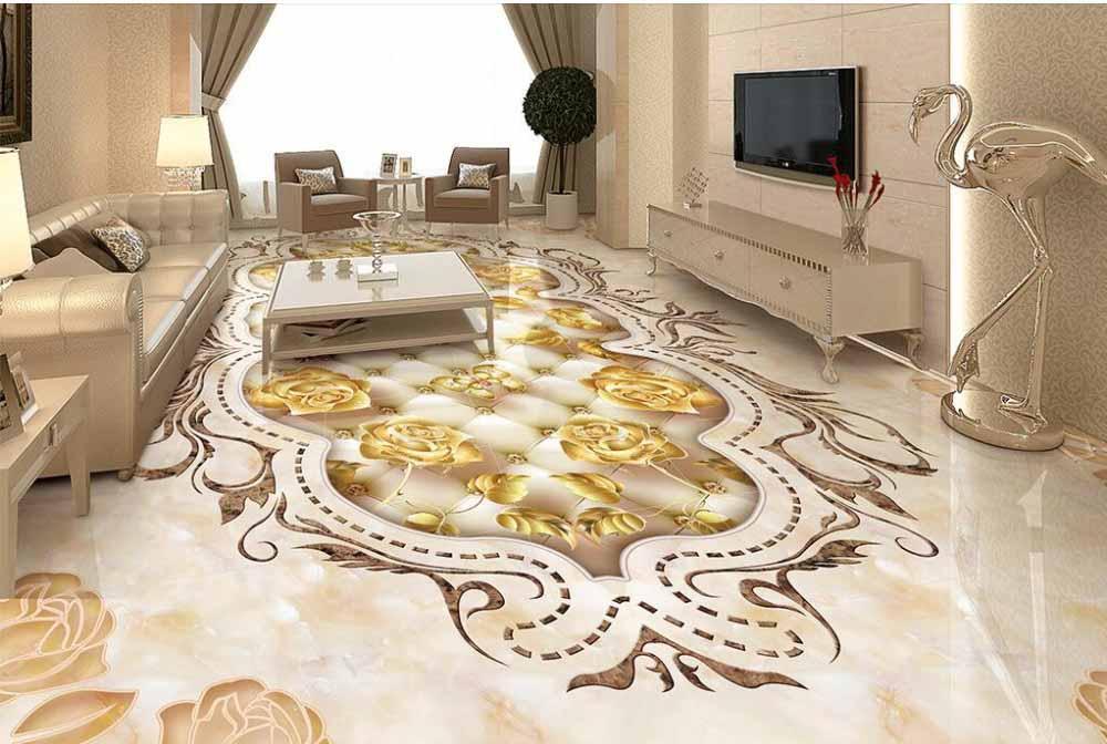 Sàn Epoxy 3D dành cho phòng khách.