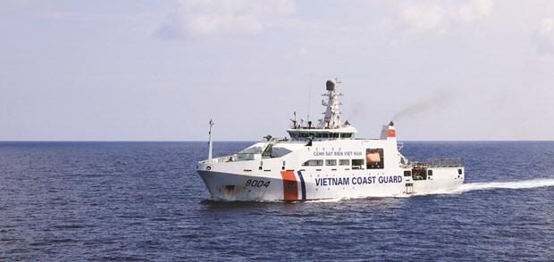 A ship of Vietnam coast guard force (Photo: VNA)