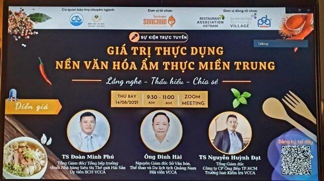 Online seminar on Central cuisine