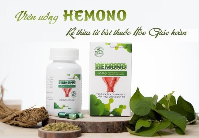 Viên uống Hemono - kế thừa từ bài thuốc Hòe Giác hoàn.