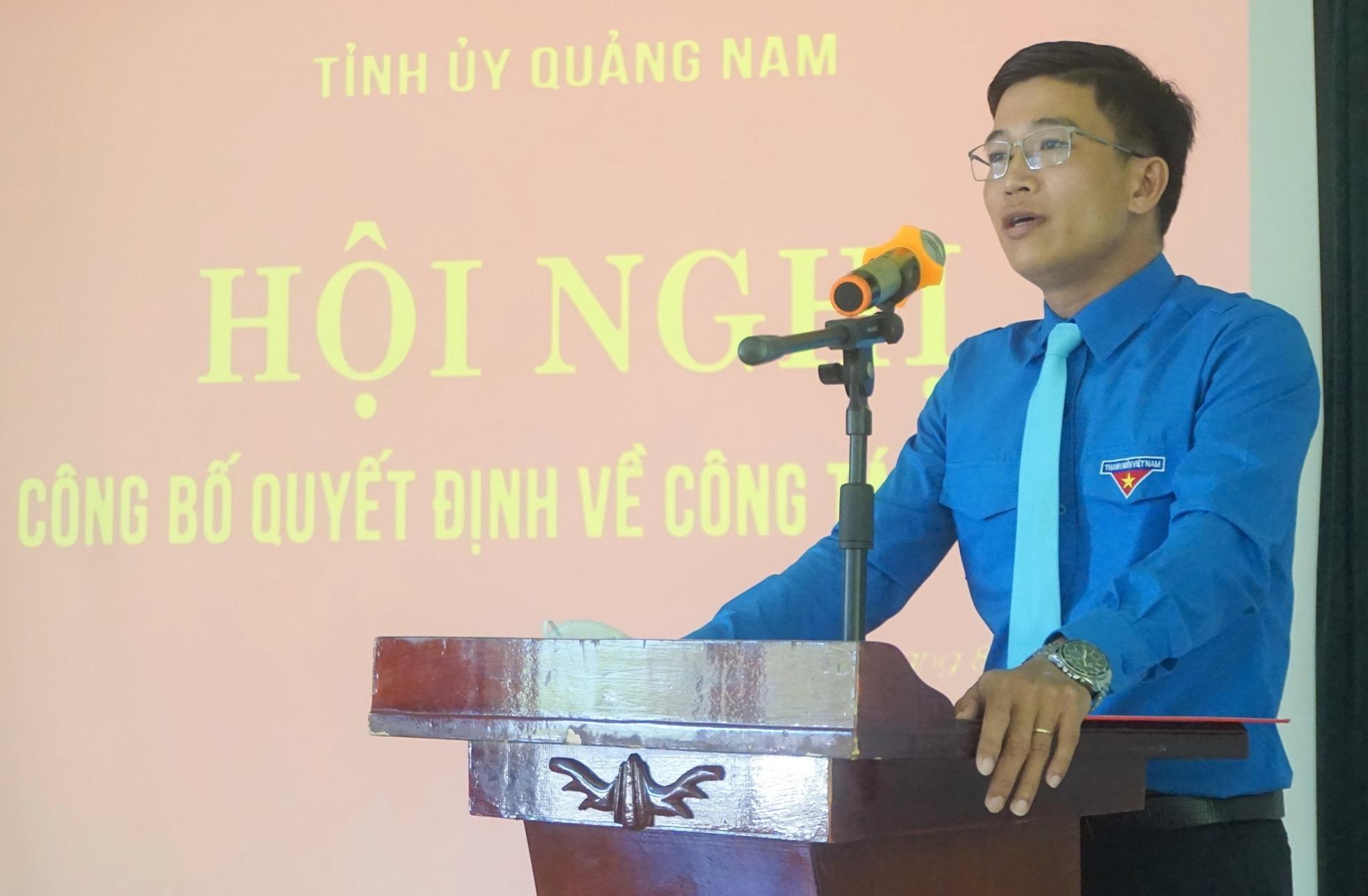 Ông Nguyễn Xuân Đức phát biểu nhận nhiệm vụ. Ảnh: T.ĐẠT