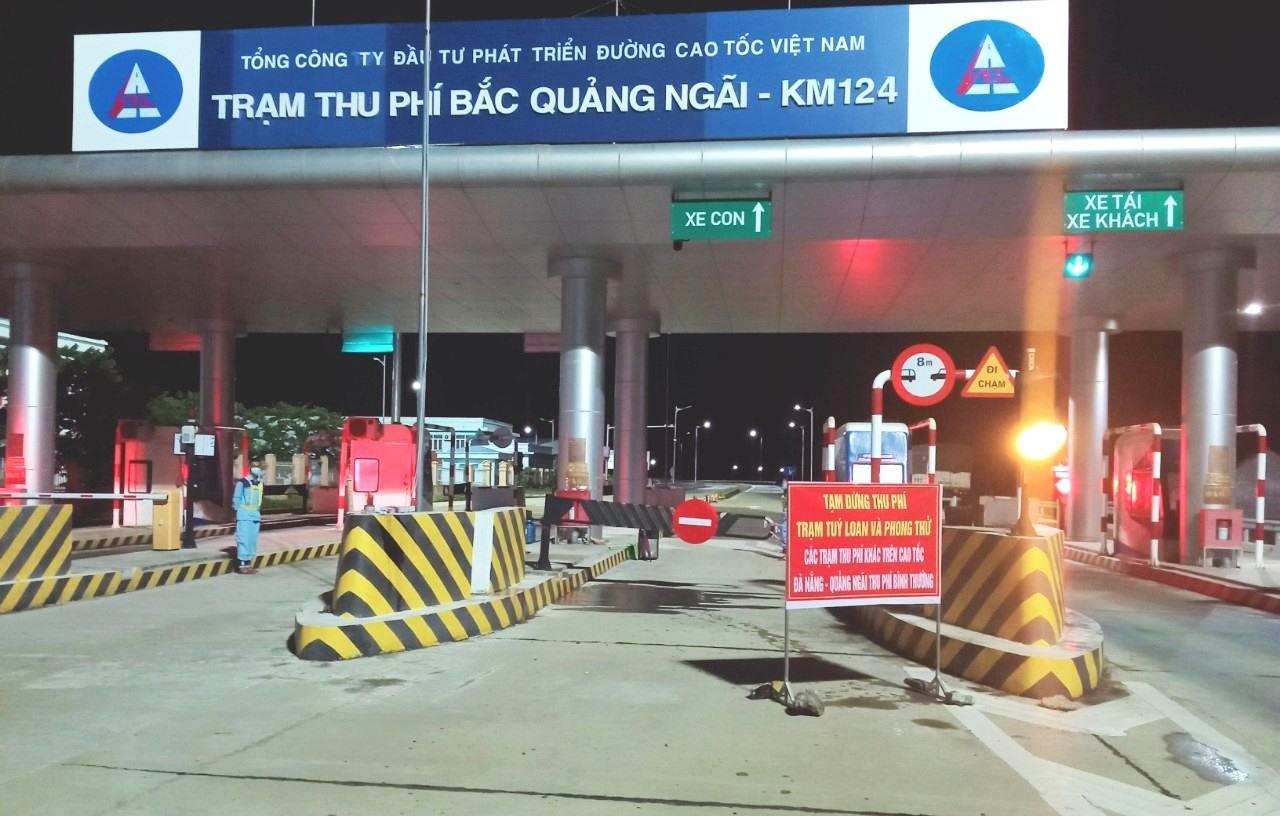 Thông báo không thu phí tại nút giao Túy Loan, Phong Thử