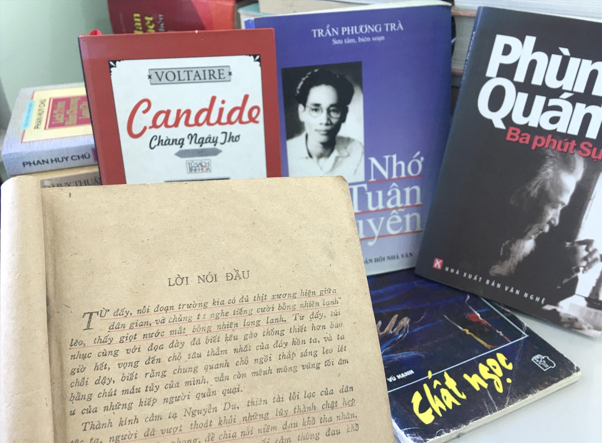 """Trang văn xuôi trong lời nói đầu """"Đọc lại Truyện Kiều"""" của cố nhà văn Vũ Hạnh từng in sâu vào tâm trí độc giả. ẢNH: H.X.H"""