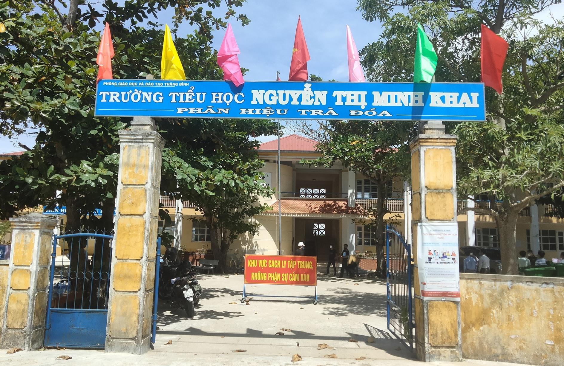 Xã Bình Đào chọn Trường Tiểu học Nguyễn Thị Minh Khai để làm khu cách ly tập trung của xã