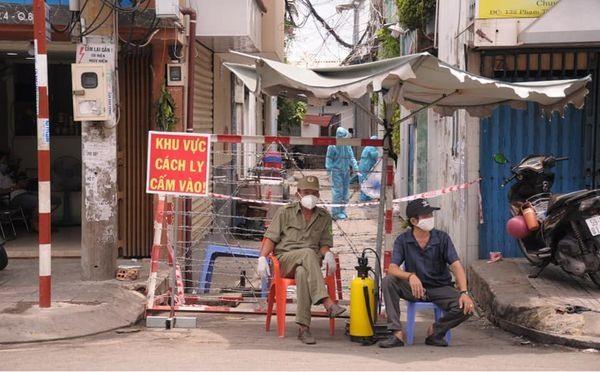 Một điểm phong tỏa trên địa bàn TP.Hồ Chí Minh. Ảnh: ncov.moh.gov.vn