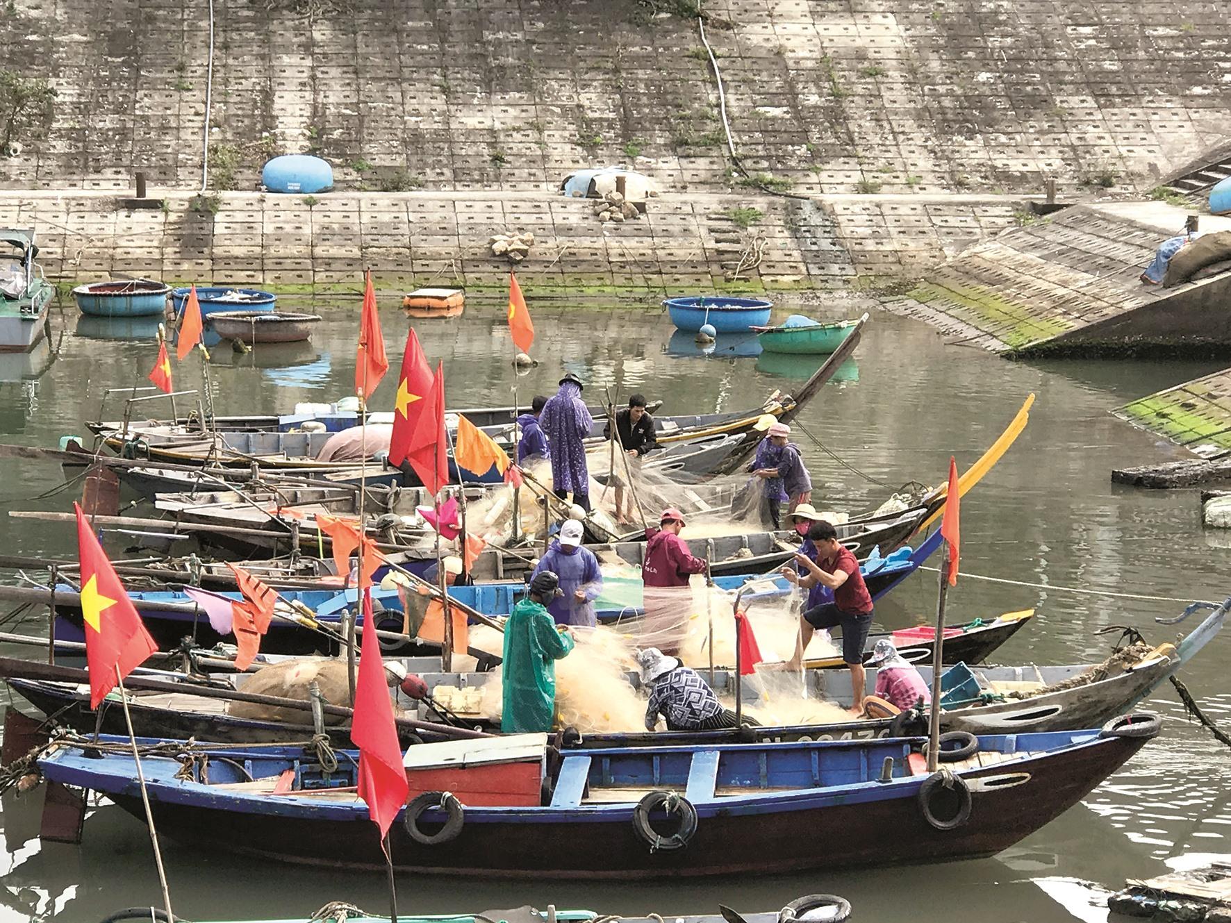 Nghề biển thu hút rất nhiều người làm du lịch trên đảo tham gia.