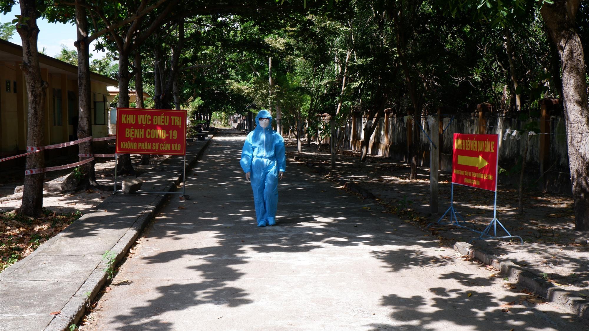 Bệnh viện Phạm Ngọc Thạch đang điều trị nhiều ca mắc Covid-19 của Quảng Nam. Ảnh; X.H