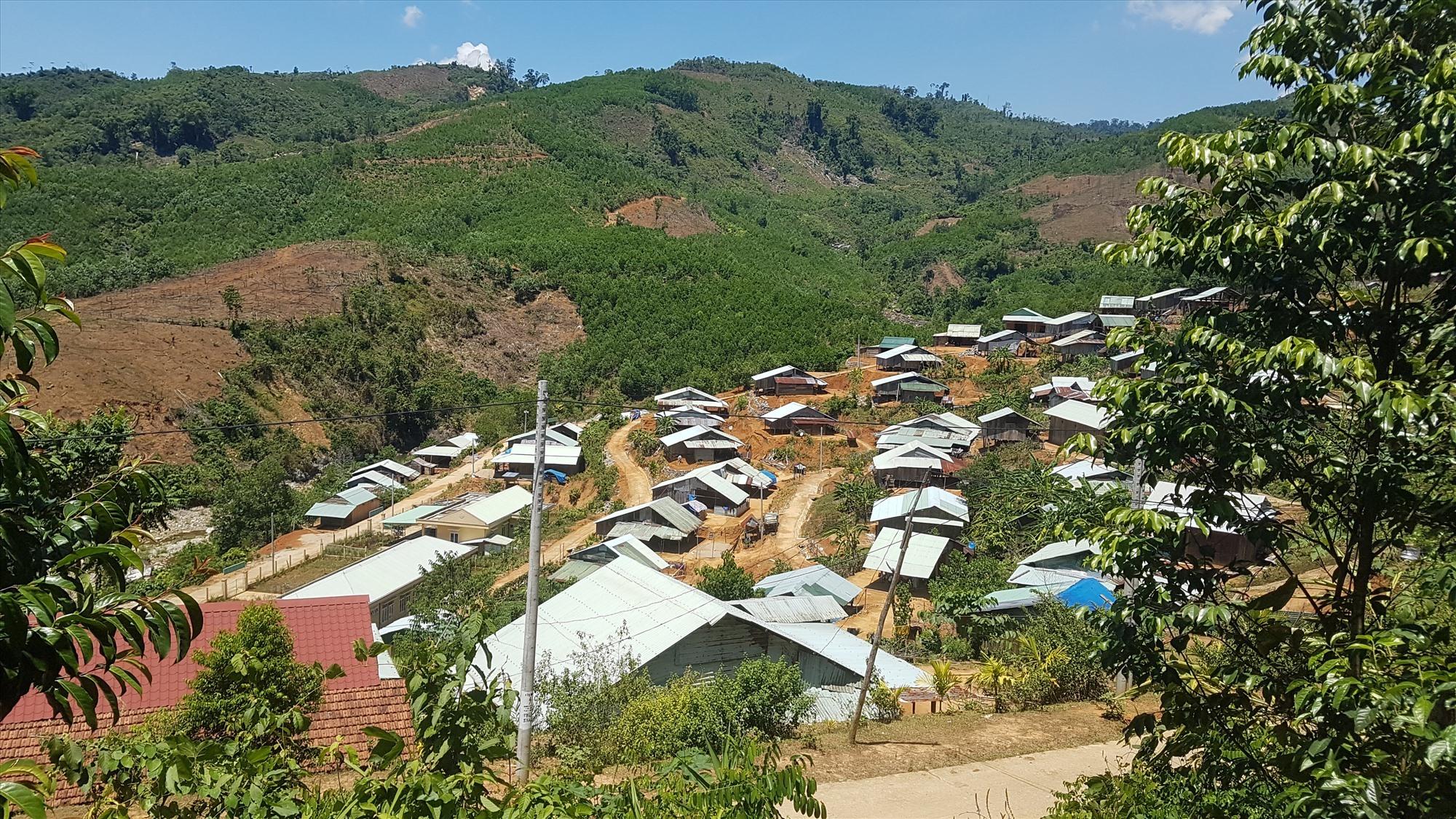 Một khu tái định cư cuộc sống người dân đã ổn định tại huyện Bắc Trà My. Ảnh: D.L