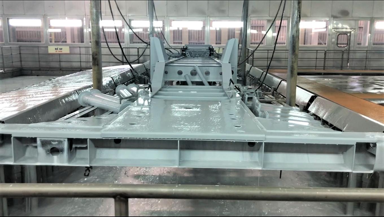 Electrostatic powder coating line in THACO SV