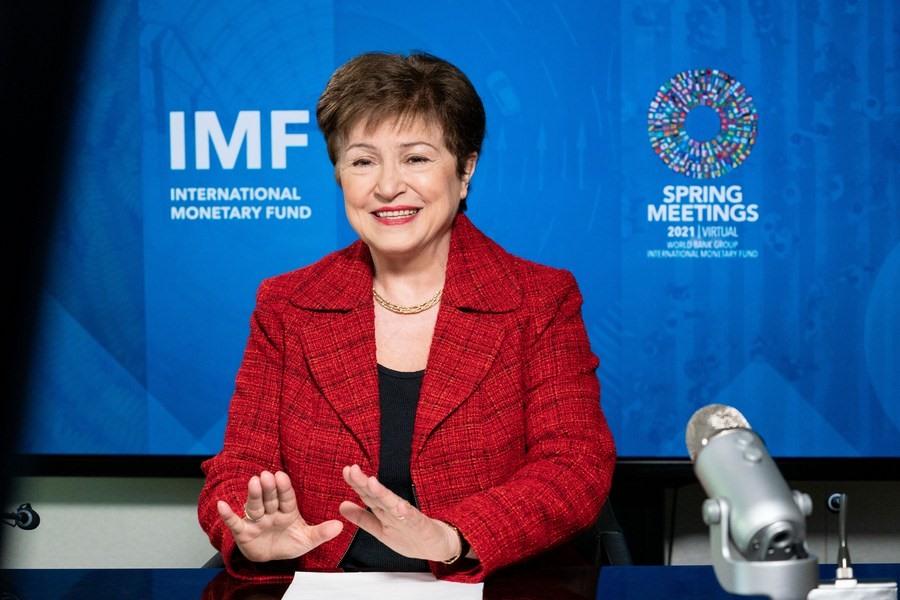 Tổng Giám đốc IMF, bà Kristalina Georgieva. Ảnh: xinhua
