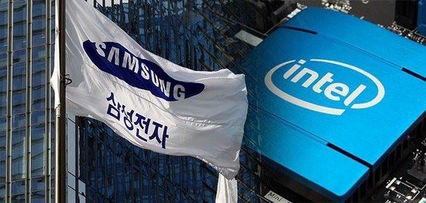 Samsung đã vượt qua Intel để trở thành nhà sản xuất chip hàng đầu thế giới về doanh thu. Ảnh: nate.com