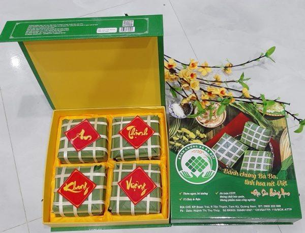 Bánh chưng bà Ba Hội (phường Tân Thạnh, TP.Tam Kỳ), một trong 3 sản phẩm công nghiệp nông thôn tiêu biểu cấp quốc gia năm 2021. Ảnh: C.N