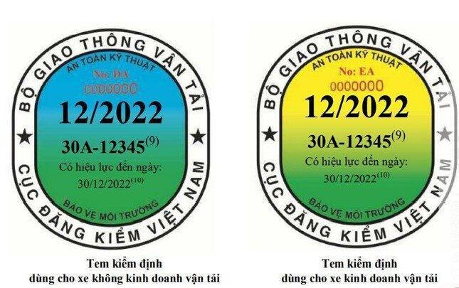 Mẫu tem kiểm định được áp dụng từ 1.10.2021