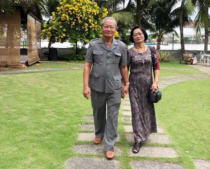 Vợ chồng ông Trần Công Cảnh. Ảnh: NVCC