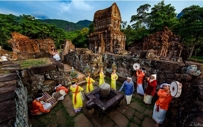 Khu đền tháp Mỹ Sơn hiện đang bảo quản Ekamukhalinga cùng nhiều hiện vật có giá trị độc đáo của nền văn minh Chămpa. Ảnh: L.T.K